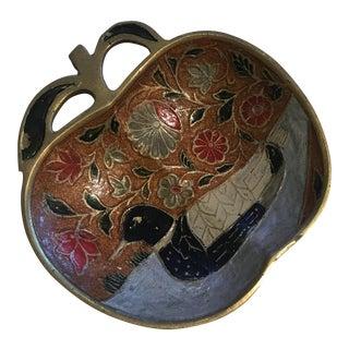 Brass Apple Enamel Dish