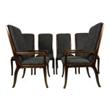 Image of 1970s Vintage Baker Furniture Company Dining Room Chairs- Set of 6 For Sale