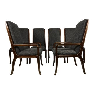 1970s Vintage Baker Furniture Company Dining Room Chairs- Set of 6 For Sale