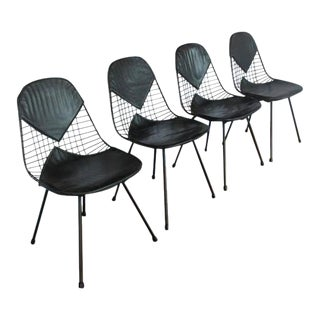 1950s Eames for Herman Miller Dining Bikini Chairs - Set of 4 For Sale