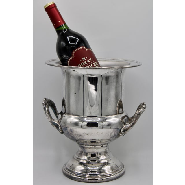 Mid-Century Modern Mid-Century French Silver Plate Champagne Ice Bucket For Sale - Image 3 of 13