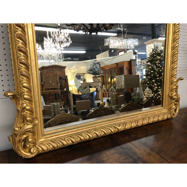 19th Century French Napoleon III Gold Leaf Mirror For Sale - Image 4 of 13