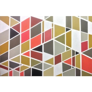 Large Abstract Geometric Pattern Painting For Sale