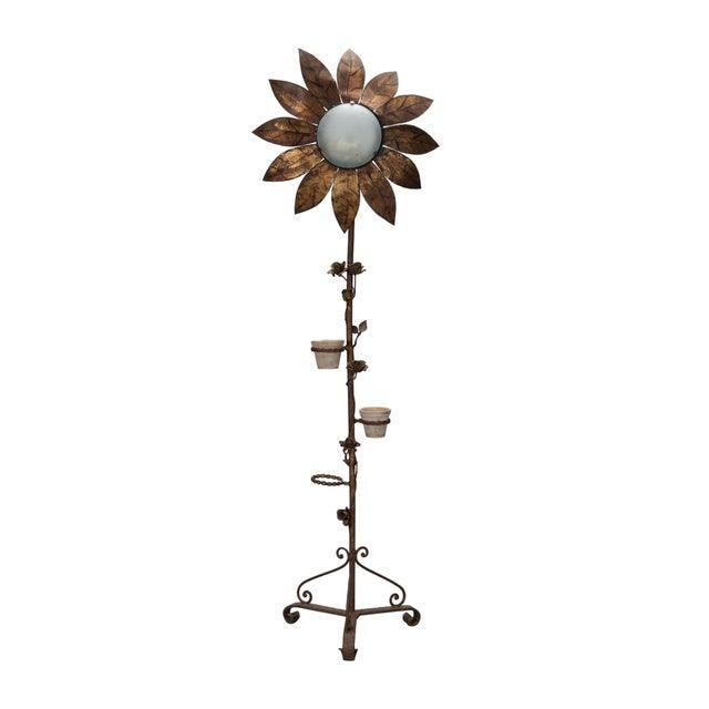1930's Spanish Gilt Metal Sunflower Floor Lamp - Image 1 of 7