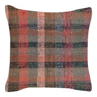 "1960s Turkish Hemp Pillow 15"" X 15"" For Sale"
