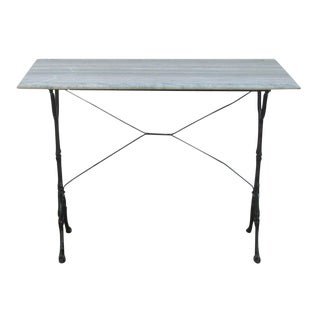 French Marble Bistro Table For Sale