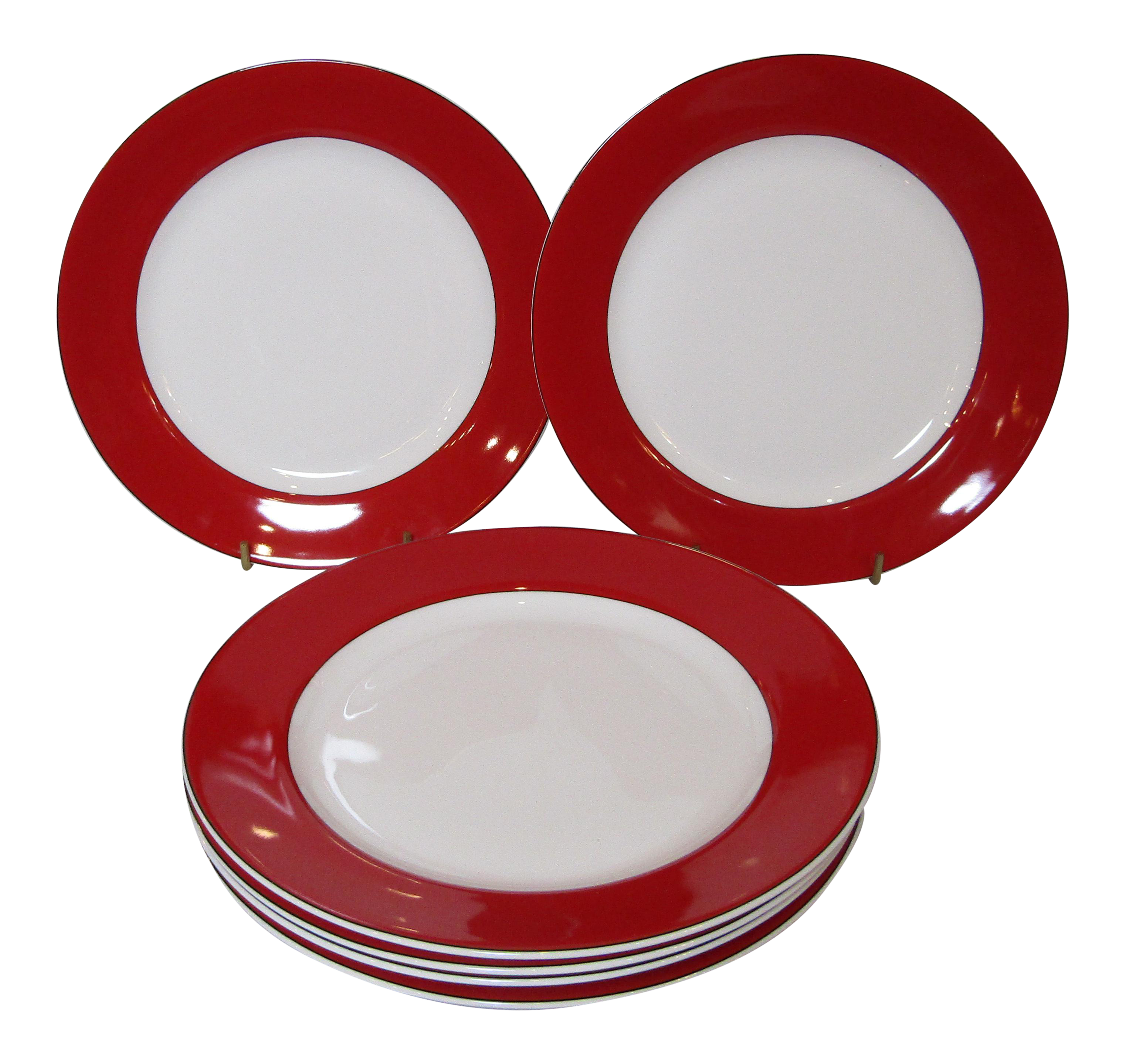 Kate Spade Lenox Holiday Red Dinner Plates - Set of Six  sc 1 st  Chairish & Kate Spade Lenox Holiday Red Dinner Plates - Set of Six | Chairish