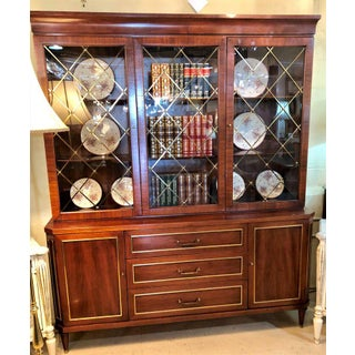 Two-Piece Rosewood Neoclassical in the Manner of Jansen Breakfront or Bookcase Preview