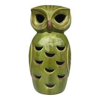Vintage Stangl Style Ceramic Candle Lantern For Sale