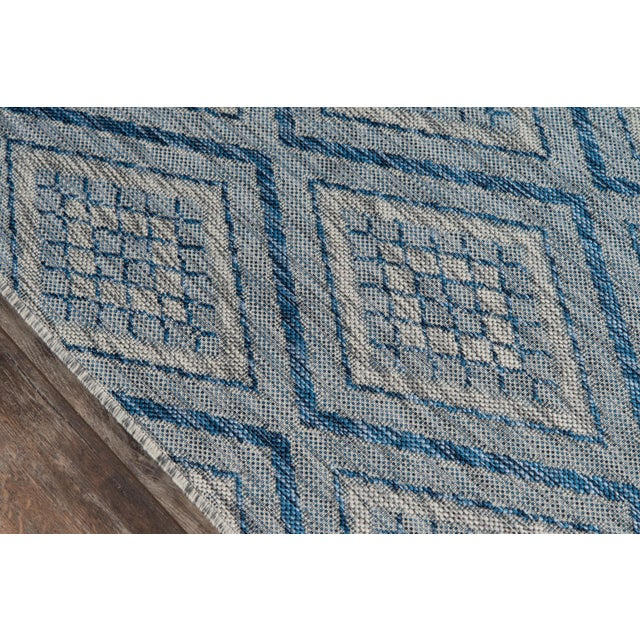 """Contemporary Madcap Cottage Lake Palace Rajastan Weekend Blue Indoor/Outdoor Area Rug 5'3"""" X 7'6"""" For Sale - Image 3 of 7"""