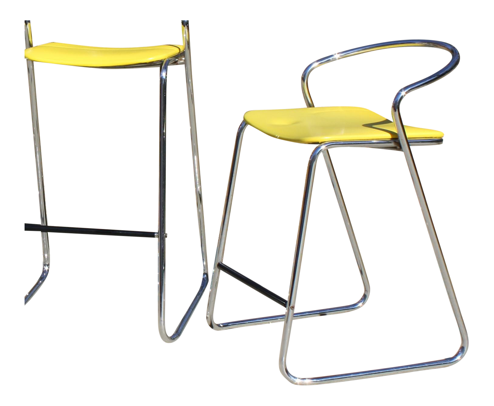 italian counter stools chairish italian counter stool in polished chrome by hank loewenstein for sale chairish