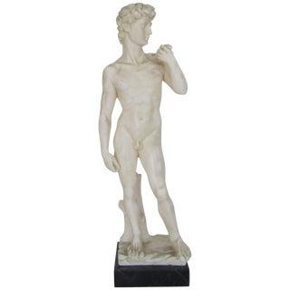 Midcentury Classic Italian Roman Sculpture on Black Marble Base For Sale