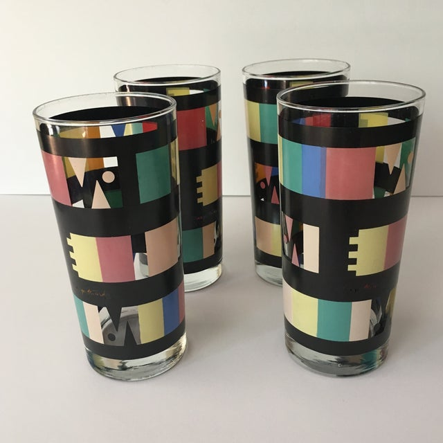 Georges Briard Mid-Century Modern Glasses - Set of 4 - Image 7 of 7
