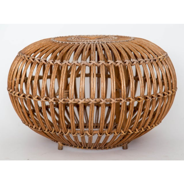 Franco Albini Rattan Lounge Chair & Ottoman For Sale - Image 5 of 11
