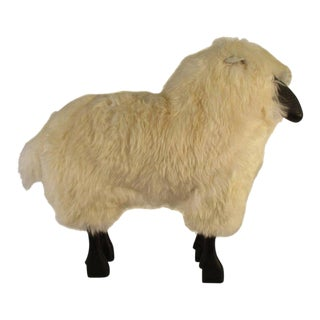 1965 Vintage Life-Size Sheep Sculpture For Sale
