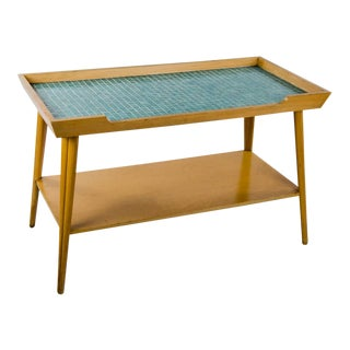 1960s Danish Modern Hansen Teak Tile-Top Coffee Table For Sale