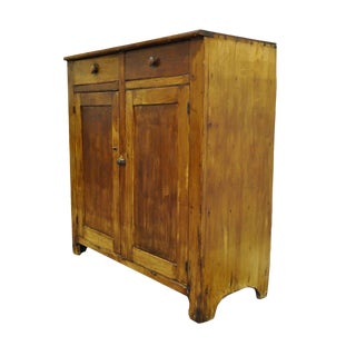 Primitive Solid Pine Dovetail Joined Cupboard Cabinet