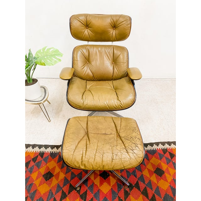 Vintage Plycraft Lounge Chair and Ottoman Set For Sale - Image 4 of 5
