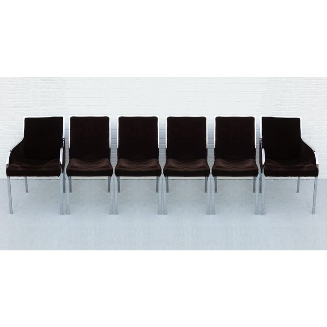 Set of Six Chrome Dining Chairs by Dillingham in the Style of Milo Baughman For Sale - Image 10 of 10