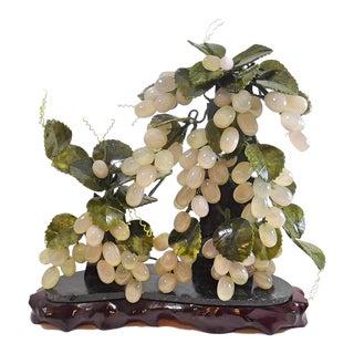 Vintage Chinese Jade Hanging Grapes Vine For Sale