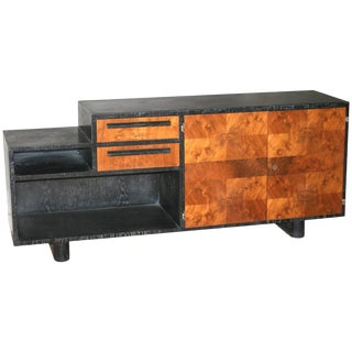 Art Deco Limed and Exotic Wood Bar/Sideboard For Sale