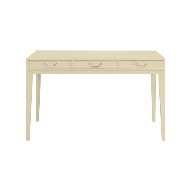 Traditional Casa Cosima Living Tilda Taper Leg Desk - Abingdon Putty For Sale - Image 3 of 3