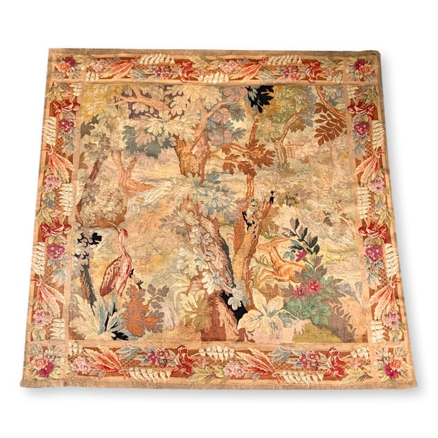 Late 19th Century French Des Bois Tapestry- 6 X 6' For Sale - Image 13 of 13