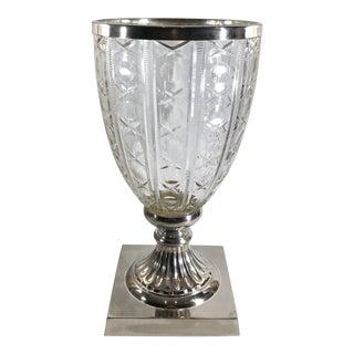 Vintage Victorian Large Cut Glass Urn For Sale
