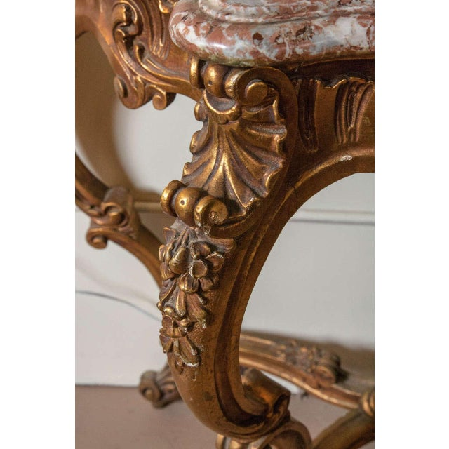 Marble Top Louis XV Style Console Table by Jansen - Image 7 of 8