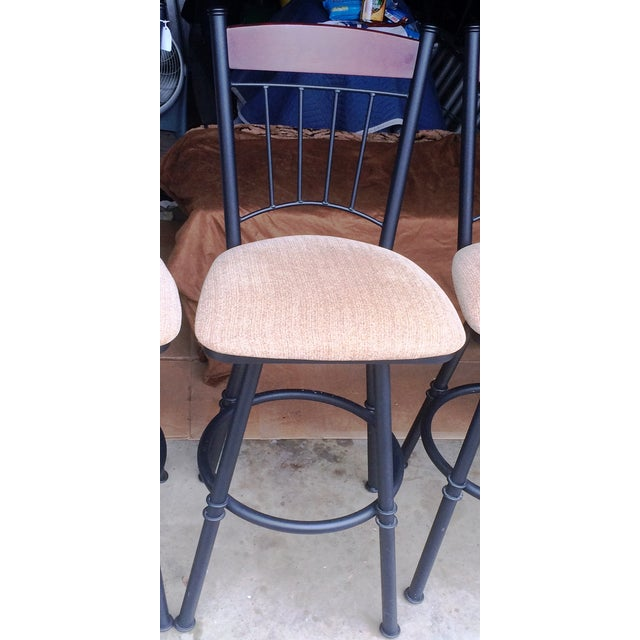 Swivel Metal Bar Stools With Cushion - Set of 4 - Image 7 of 7