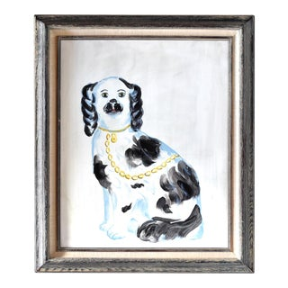 Contemporary Staffordshire Spaniel Painting For Sale
