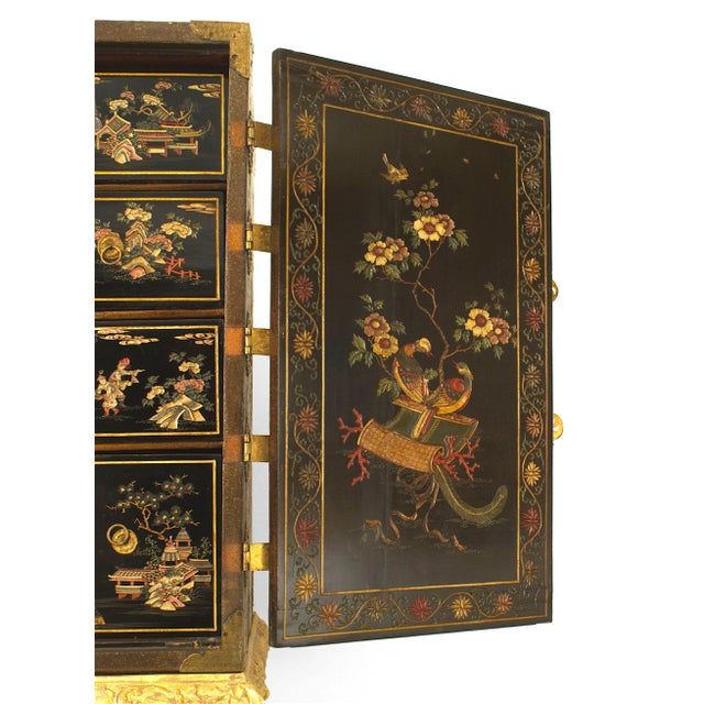 Wood 17th Century Chinese Coromandel Cabinet on a Charles II Gilt-Wood Stand For Sale - Image 7 of 12