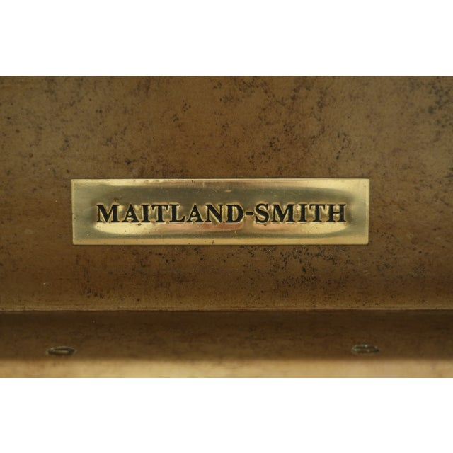 Maitland Smith Regency Style Leather Wrapped Chest Dresser For Sale - Image 11 of 12
