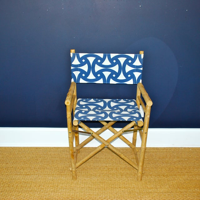 Bamboo Director's Chairs - Set of 4 - Image 3 of 7