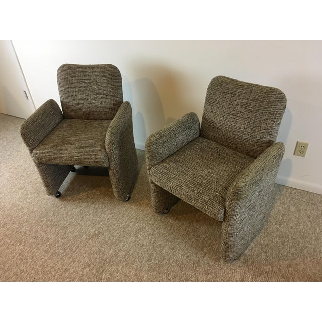 Vintage Tweed Accent Chairs - A Pair - Image 3 of 9