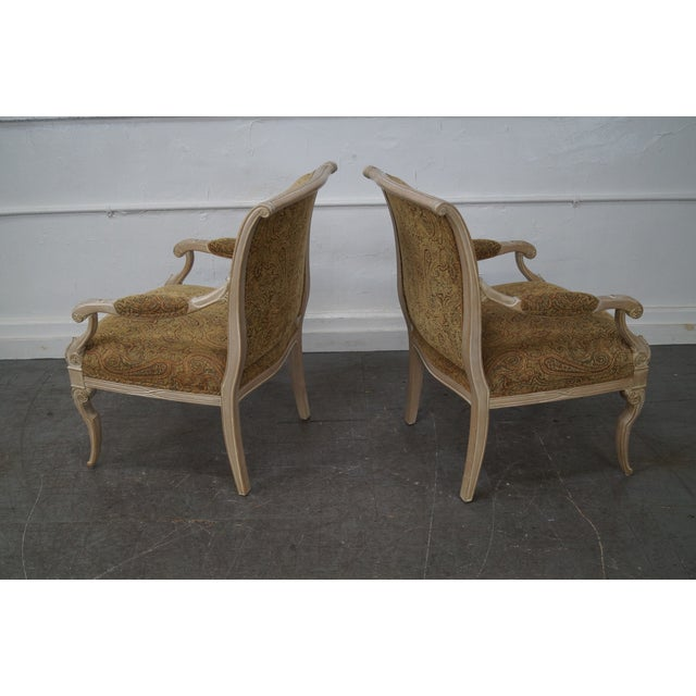 Regency Style Paisley Armchairs - A Pair - Image 5 of 10