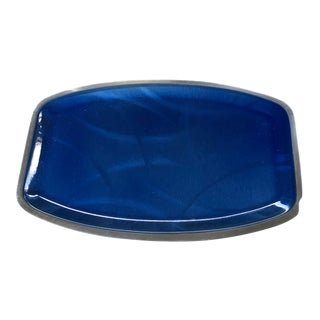 Cathrineholm Cobalt Blue Cathedral Tray For Sale