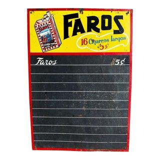 Vintage Faros Chalkboard Sign