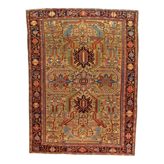 Colorful Vintage Persian Heriz Rug For Sale