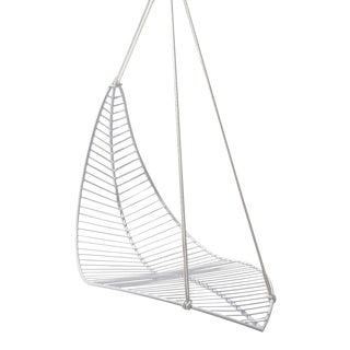 Leaf Hanging Swing Chair - White For Sale