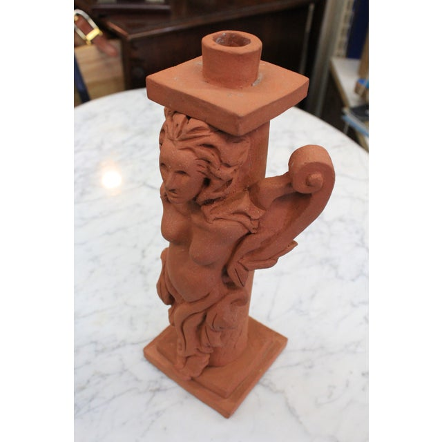 Terra Cotta Candle Holder For Sale In New York - Image 6 of 8