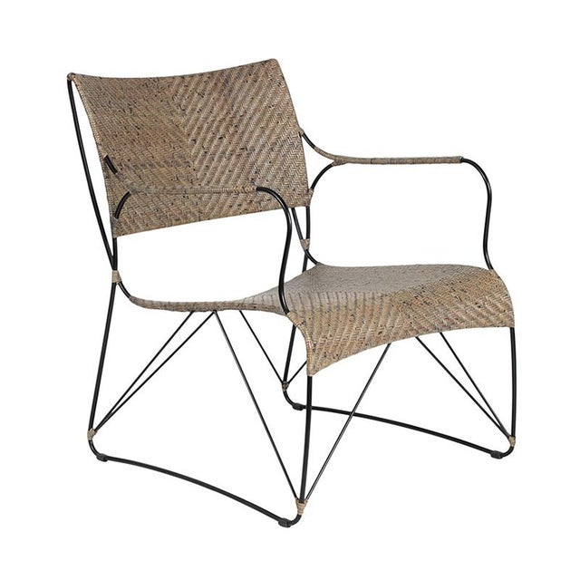 David Francis Indoor Seto Lounge Chair - Gray For Sale In West Palm - Image 6 of 6