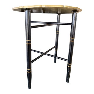 20th Century Chinoiserie Brass Tray Table For Sale