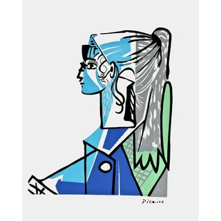 Sylvette, 1980s Color Silkscreen, Pablo Picasso For Sale