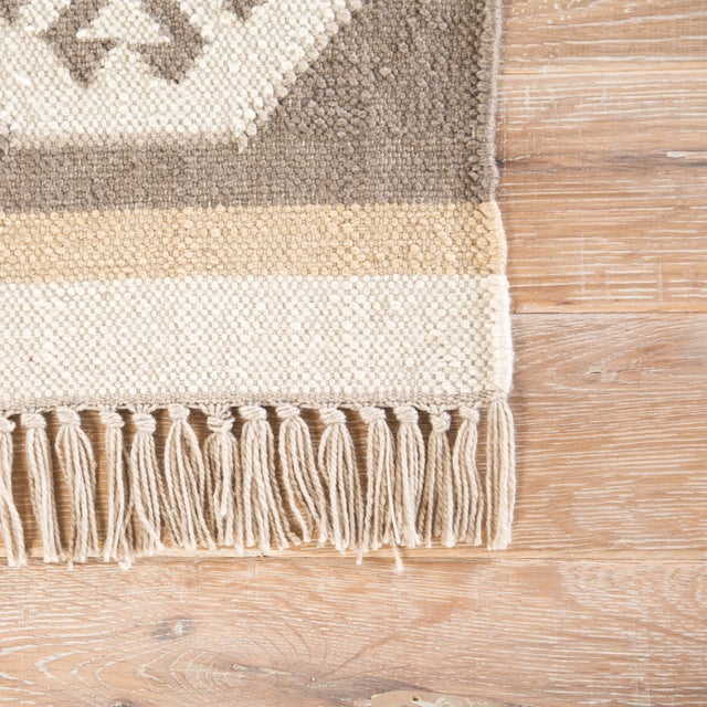 Contemporary Jaipur Living Emmett Geometric Gray & Taupe Area Rug - 2' X 3' For Sale - Image 3 of 6