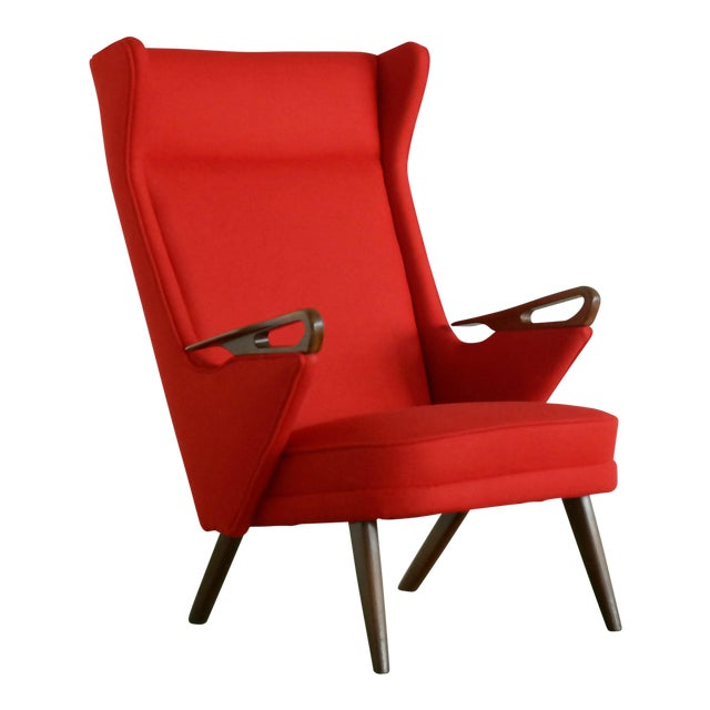 Svend Skipper Attributed 1950s Papa Bear Style Lounge Chair For Sale