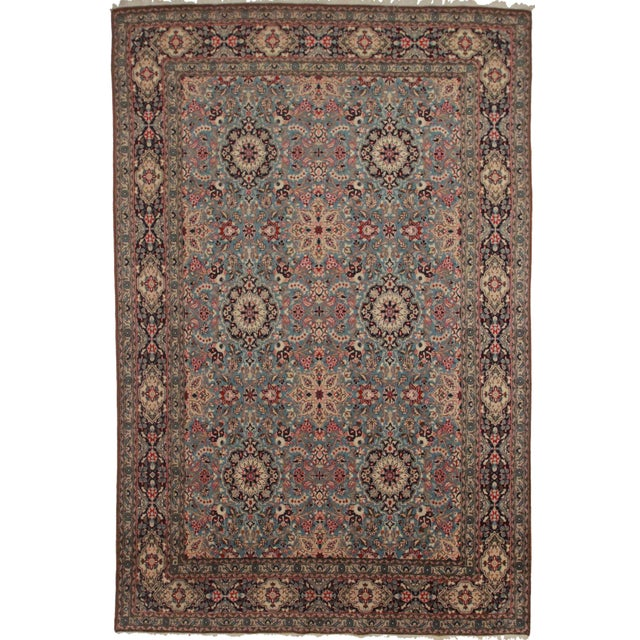 Silk & Wool Hand Knotted Persian Qum Rug- 8′6″ × 13′1″ - Image 1 of 2