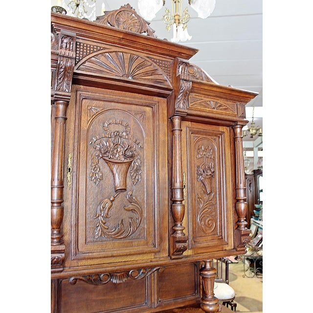 French Rococo Hand-Carved Hutch - Image 5 of 9