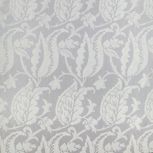 Contemporary Sample, Suzanne Tucker Home Jacqueline Linen Blend Jacquard in Lilac For Sale - Image 3 of 4