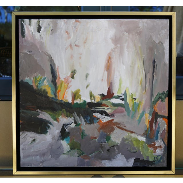 """Laurie MacMillan """"So Close, and Yet So Far"""" Abstract Landscape For Sale In Los Angeles - Image 6 of 6"""